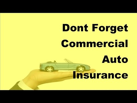 2017 Car Insurance  | Dont Forget Commercial Auto Insurance When You Start Your Business