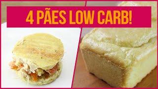 PÃO SEM CARBOIDRATO! | 4 Receitas Fitness Fáceis de Pão Fit Sem Farinha para Dieta Low Carb