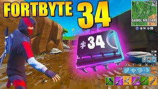 Fortnite Fortbyte 34 🍴 Fork & Knife | All Fortbyte Location Season 9 Utopia Skin Deutsch