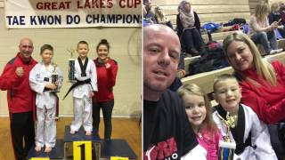 Storm Taekwondo 8 year old Caleb Lougheed Black Belt - Michigan