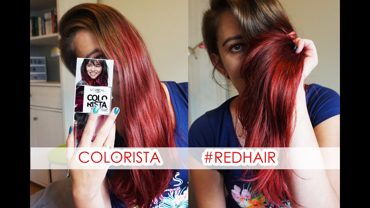 Loreal Colorista Washout Redhair Youtube