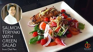 Thoughtful Food - Salmon Teriyaki with Green Salad