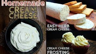How to make Cream Cheese   Homemade Cream cheese  Cream Cheese Frosting  Cream Cheese without cream