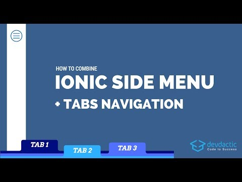 How to Combine Ionic Side Menu and Tabs Navigation