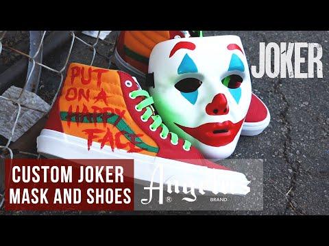DIY Halloween Costume | Custom Joker Mask, Shoes, and Pumpkin | Angelus Paints