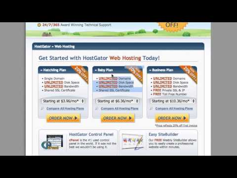Setting Your Website Up With HostGator