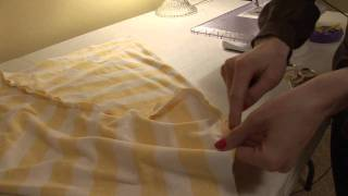 How to make a loose fitted knit top