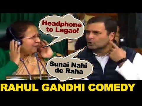 Rahul Gandhi COMEDY with Lok Sabha Speaker Sumitra Mahajan