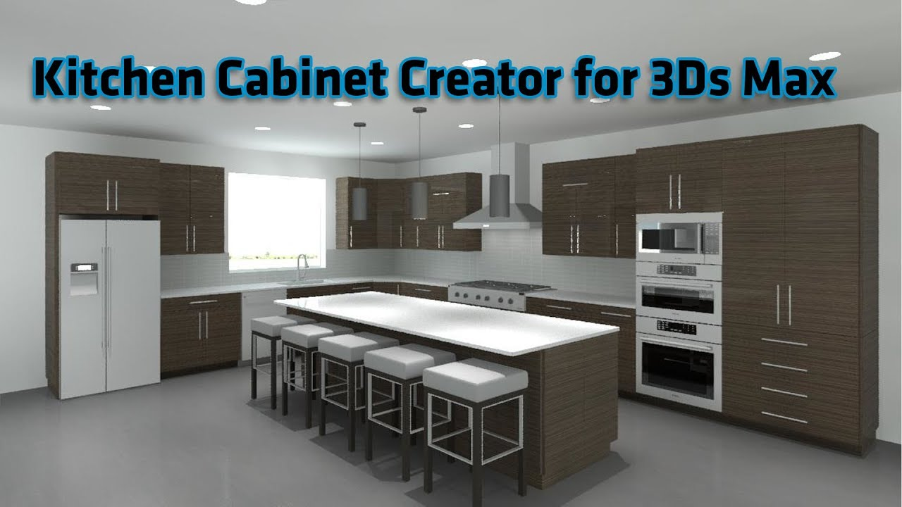 Kitchen Cabinet Creator for 3Ds Max | Updated