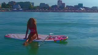 fitness / yoga в море на SUP