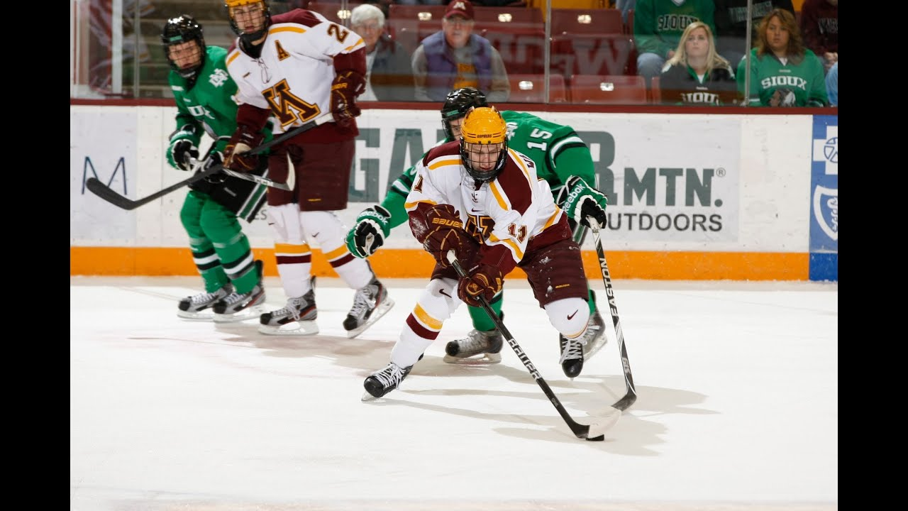 Gopher Hockey scores twice in 3rd to beat UND - YouTube Gopher Hockey