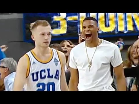 Russell Westbrook Gets Amped AF About Bryce Alford's Game-Winning Three