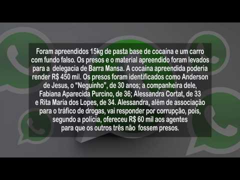 WhatsApp TV Voz - Presos em Barra Mansa suspeitos de tráfico