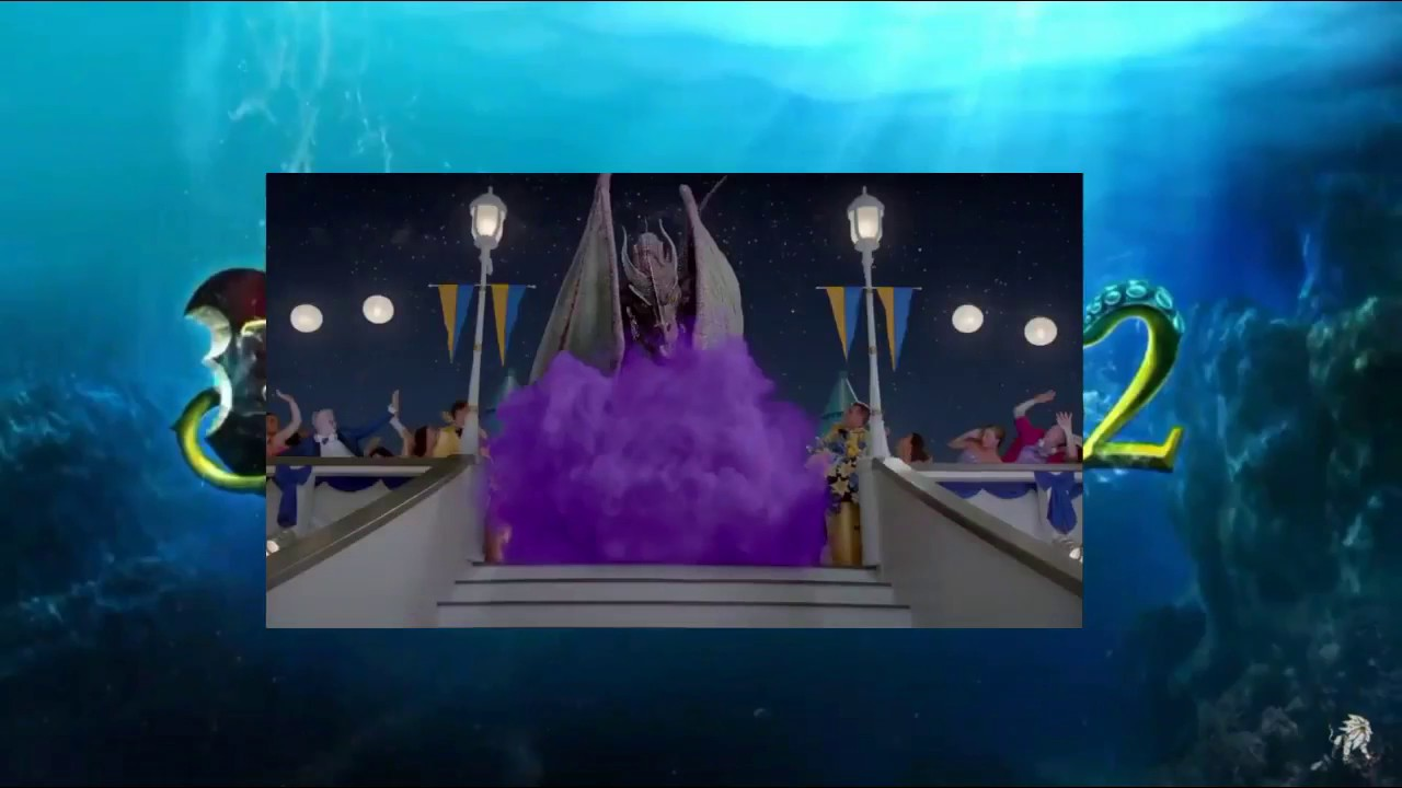 Descendants 2 - Mal turns from dragon to human - YouTube