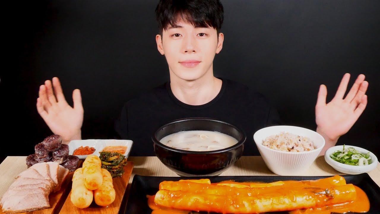 SUB)🍲순대국밥 먹방 수육, 순대, 가래떡 떡볶이 먹방 MUKBANG EATINGSOUND ASMR EATINGSHOW AJEOC