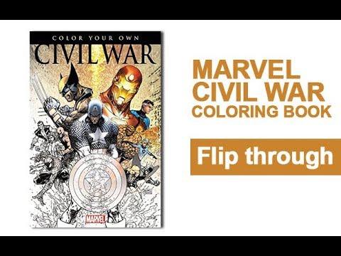 Civil War Coloring Book Flip Through Marvel Avengers Captain America ...