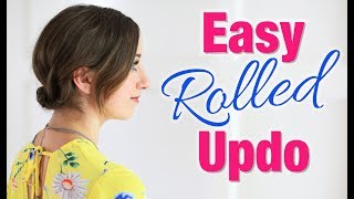 Easy DIY Rolled Updo Hairstyle | Short Hair Tutorial