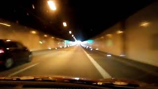 Driving through the Ems Tunnel (Germany/Lower Saxony) ---17 September 2017