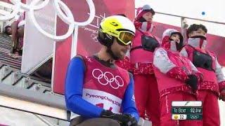 JO 2018 : Combiné nordique - Petit tremplin Saut à Ski : Le très bon saut de Jason Lamy-Chappuis