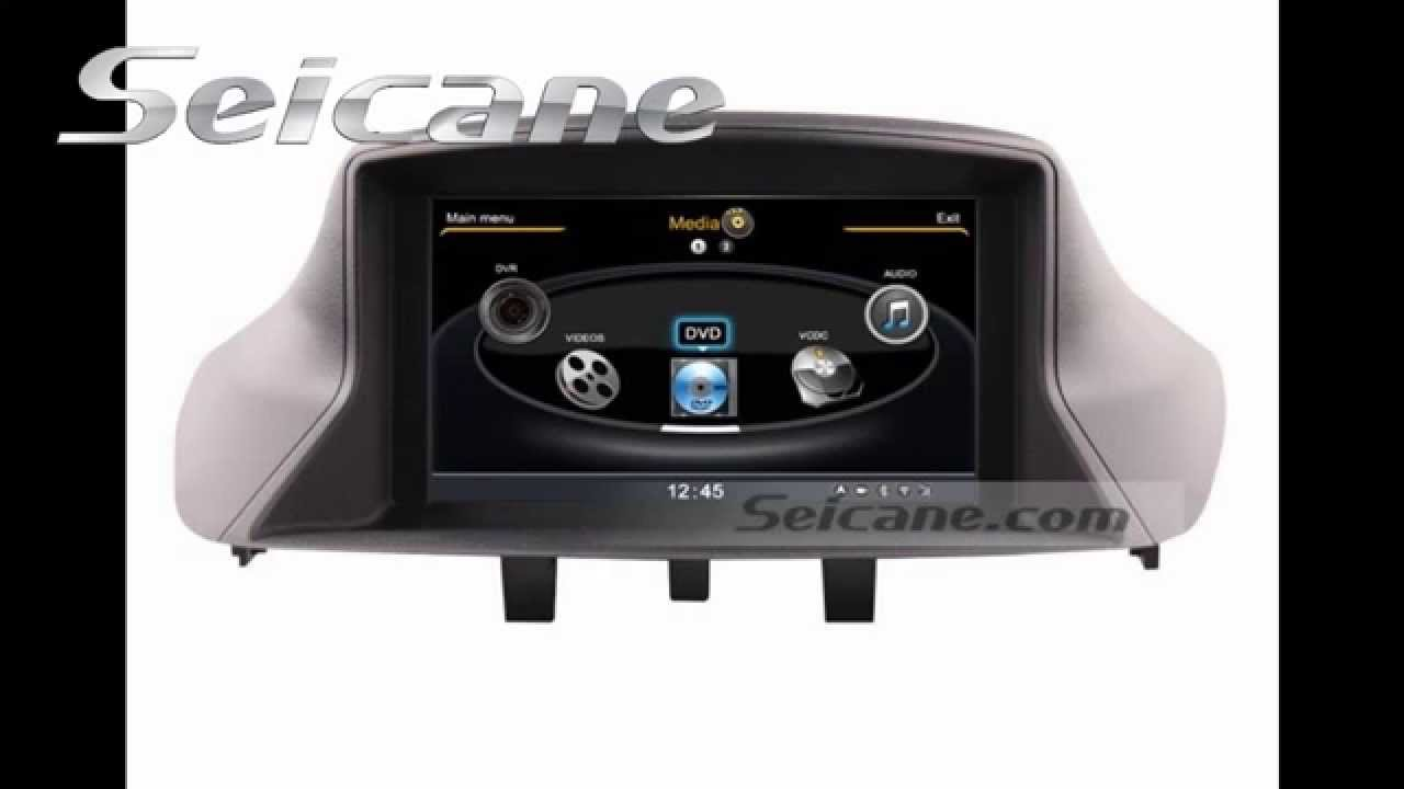 all in one radio dvd audio system for 2010 2011 renault m gane with 3d gps navigation usb music. Black Bedroom Furniture Sets. Home Design Ideas