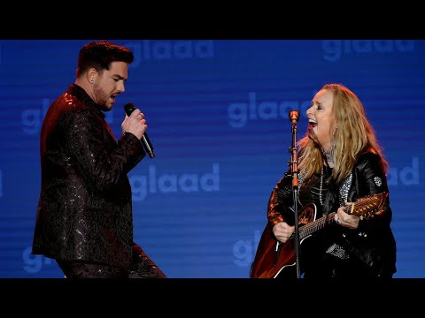 Adam Lambert & Melissa Etheridge Rock Out To 'I'm The Only One' At The GLAAD Media Awards