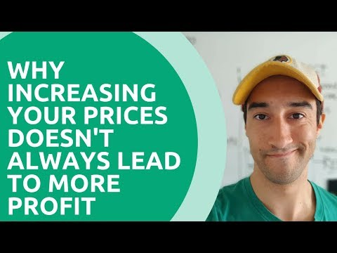 Why increasing your prices doesn't always lead to more profit
