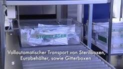 Kantonsspital Olten, CH-Olten - Fördersysteme Behälter / automatischer Warentransport