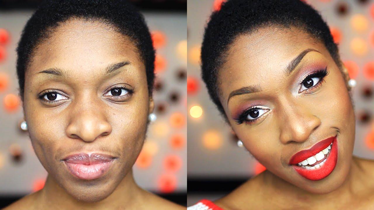 Assez Maquillage Peau Noire | Glamour Chic pour les Fêtes - YouTube YE03