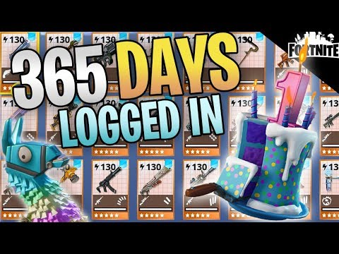 FORTNITE  365 Days Logged In Save The World My Entire Inventory After 1 Year