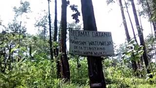 Jalur Sepeda Motor Ke Wisata Watu Meja Kebasen Banyumas