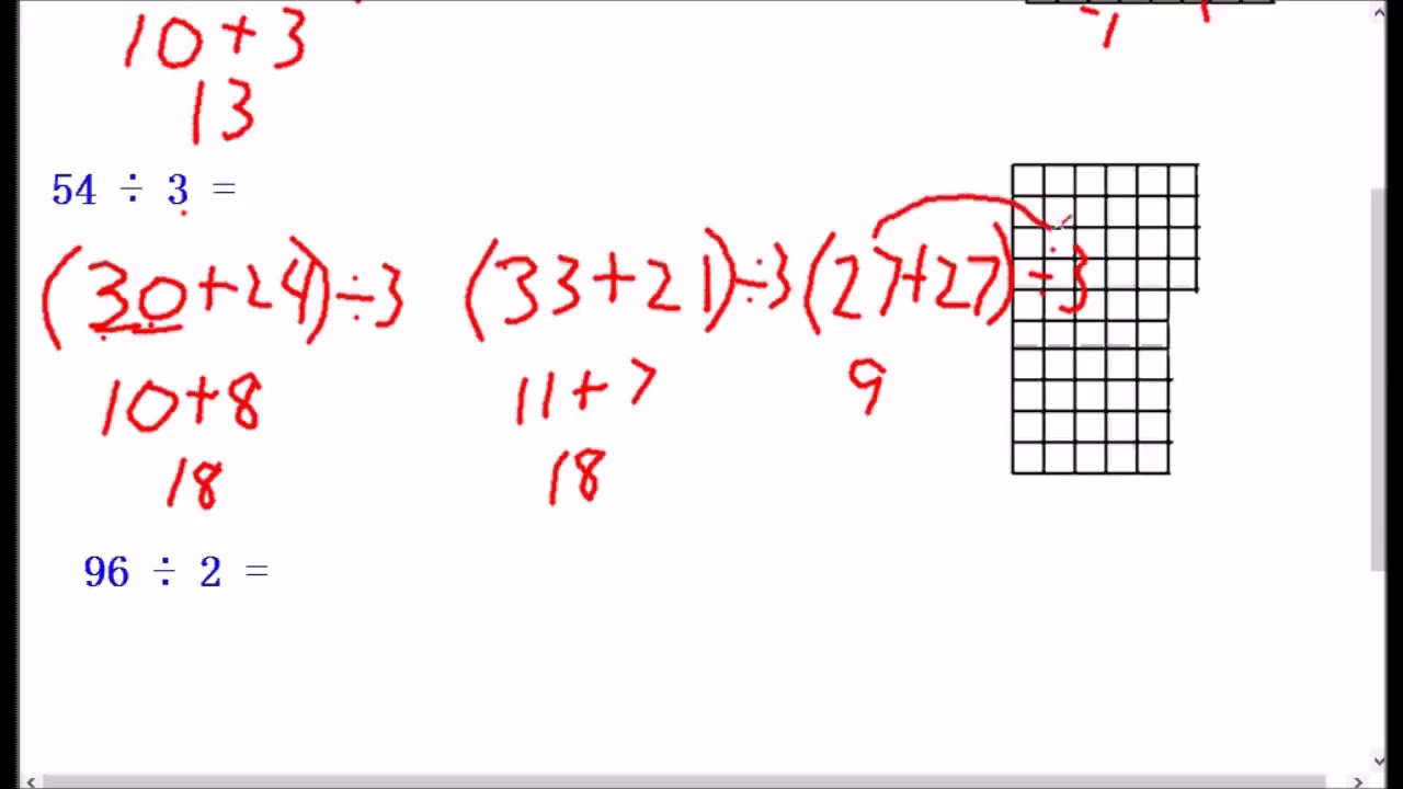 Division Break Apart Method 4th Grade Common Core - YouTube [ 720 x 1280 Pixel ]