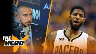 Paul George staying in OKC? Lonzo Ball sits out - Nick Wright and Cris Carter react | THE HERD