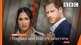 Oprah interview: Racism claims, Harry 'let down' by dad, and Meghan on Kate  @BBC News live  BBC