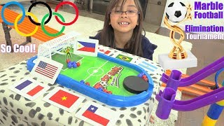 Marble Racing Football Elimination Tournament! Marble Racing Soccer, Family Toy Racing Race #45