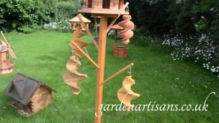 Handmade Wooden Garden Windmill, Lighthouses, Wishing Wells, Bird Tables, Twirl