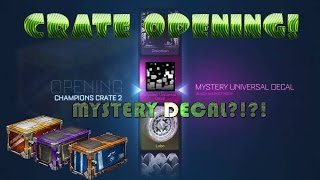 Rocket League - Halloween Crate Opening - GETTING BEST LOOT AND MYSTERY DECAL!?!?