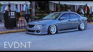 How to Stunt on South Beach | Bagged CL7 Acura TSX style | Music Video