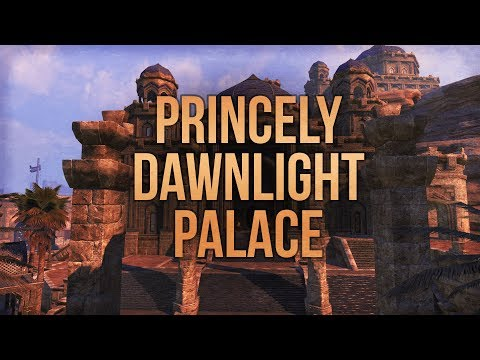 ESO Princely Dawnlight Palace -  House Tour - The Elder Scrolls Online