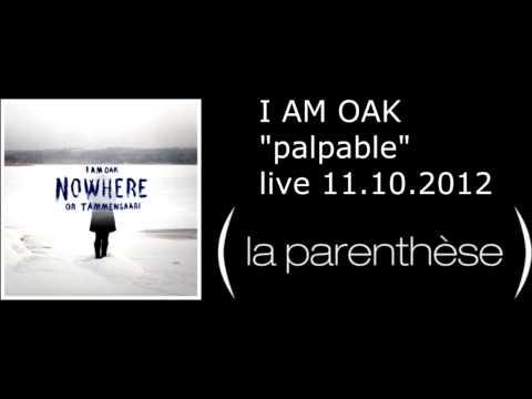 I AM OAK - palpable - Live @ La parenthèse 2012