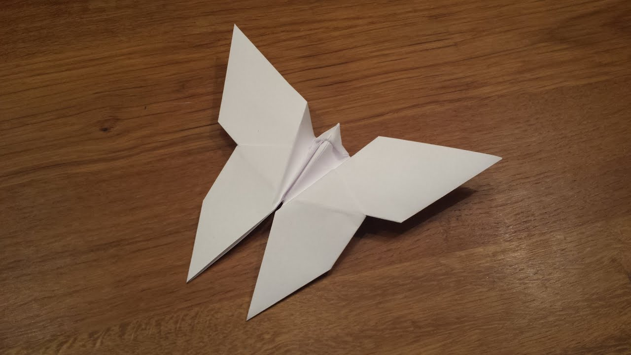 How To Make an Origami Butterfly - YouTube - photo#2