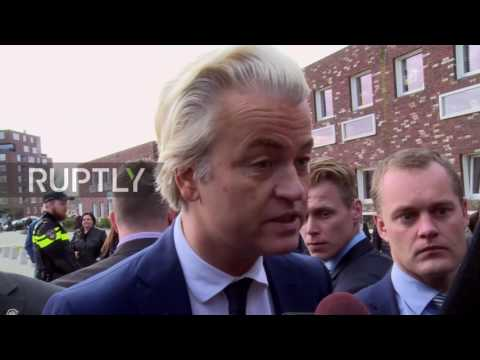 Netherlands: A patriotic revolution will take place – Optimistic Wilders casts vote