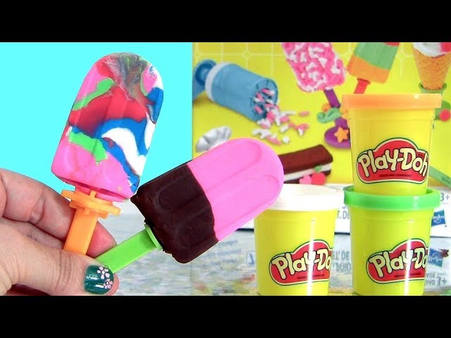 Play Doh Popsicles DIY Marble Popsicle ice cream Frozen Treats