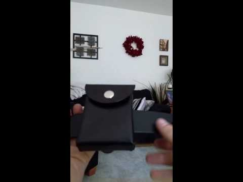 New leather deck box for unsleeved cards like in the YuGiOh anime