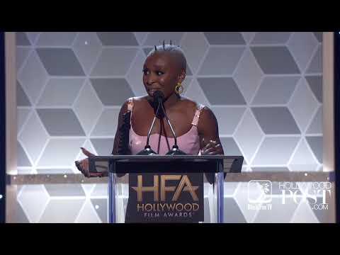 Viola Davis Presents To Cynthia Erivo At The Hollywood Film Awards