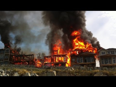 5 BUILDINGS COLLAPSE IN MINUTES FROM FIRE!