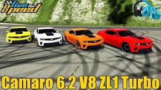 🔴►Live For Speed - Camaro ZL1 6.2 V8 Turbo 1Kg de Pressão - GoPro - Racha de Rua - G27