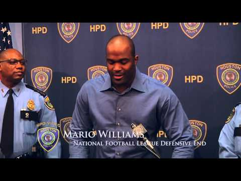 Mario Williams donates Five Dodge Chargers to HPD (Houston Police Department, HPD Video Production)