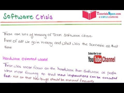 define software crisis