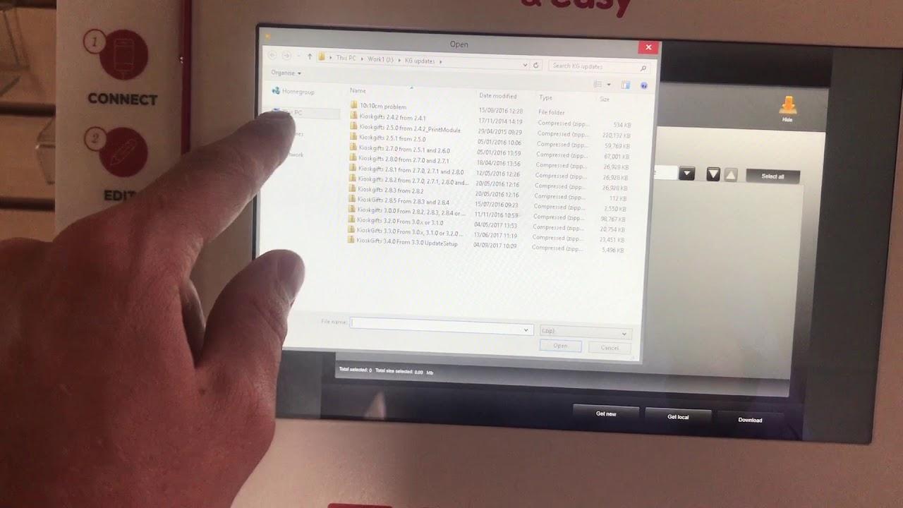 Smart Kiosk software update procedure