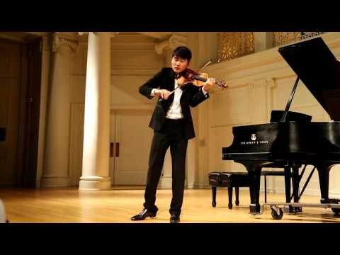 "In Mo Yang performs Ysaye Sonata no. 3 ""Ballade"" for solo violin"